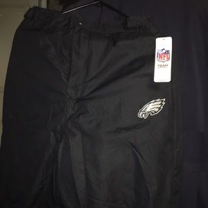 Official Eagles pile lined  snow pants.